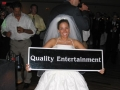 Bride Holding QE Sign