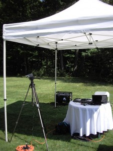 Electric generator – Outdoor wedding